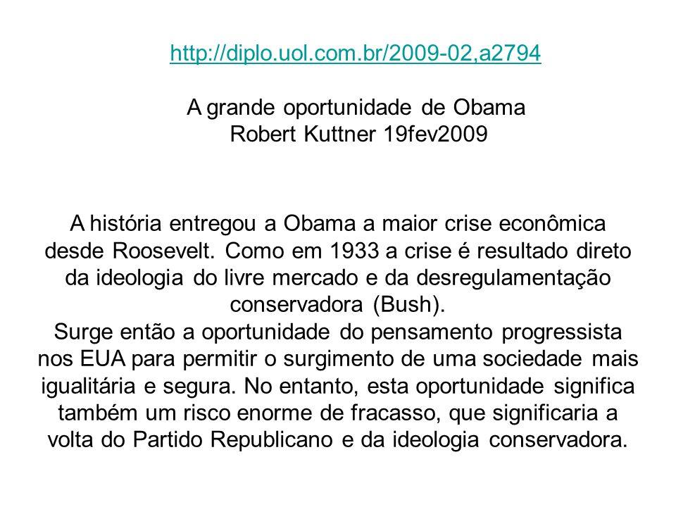 A grande oportunidade de Obama