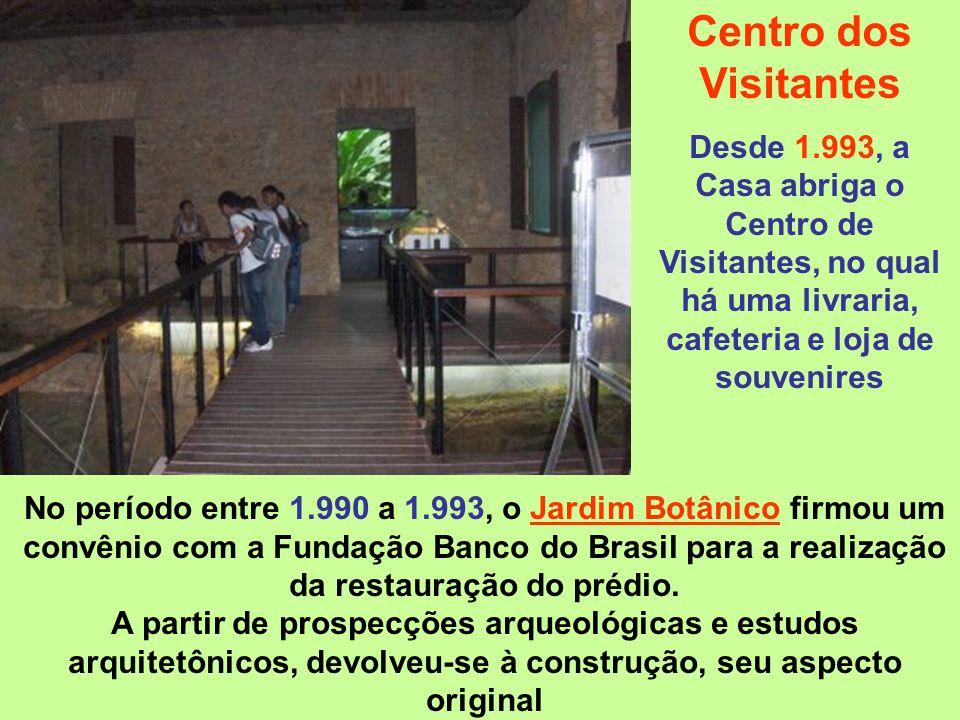 Centro dos Visitantes Desde 1.993, a Casa abriga o Centro de Visitantes, no qual há uma livraria, cafeteria e loja de souvenires.