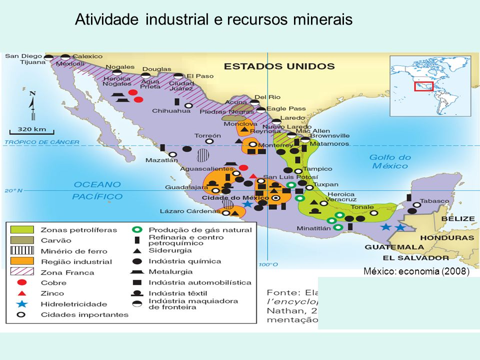 Atividade industrial e recursos minerais