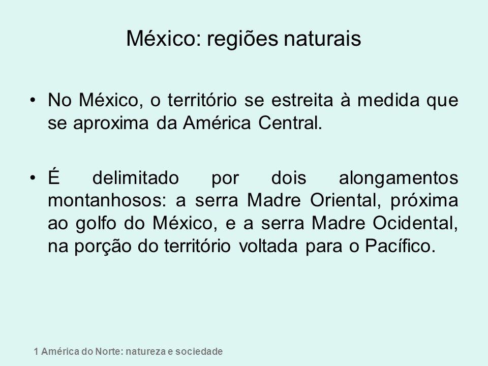 México: regiões naturais