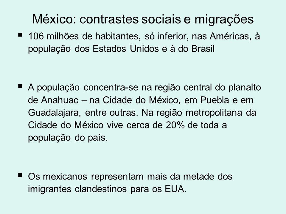 México: contrastes sociais e migrações