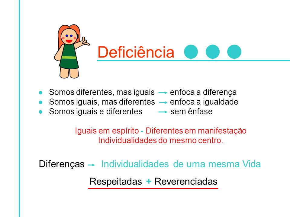 Deficiência Diferenças Individualidades de uma mesma Vida