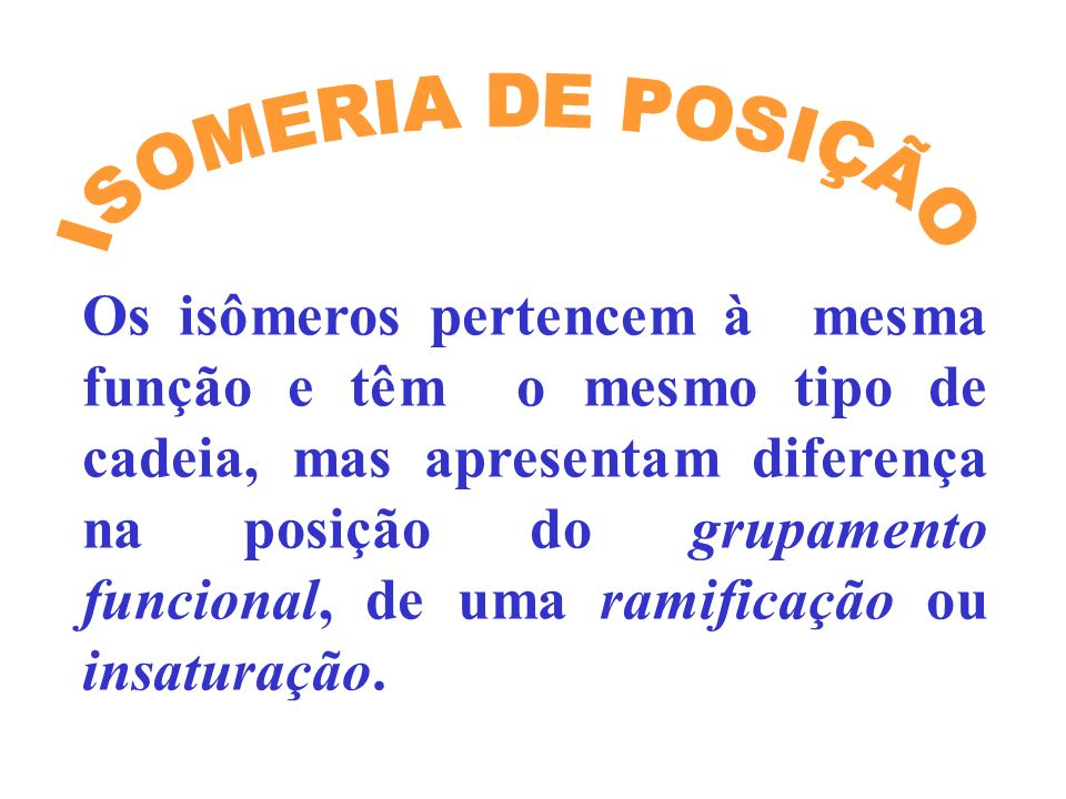ISOMERIA DE POSIÇÃO