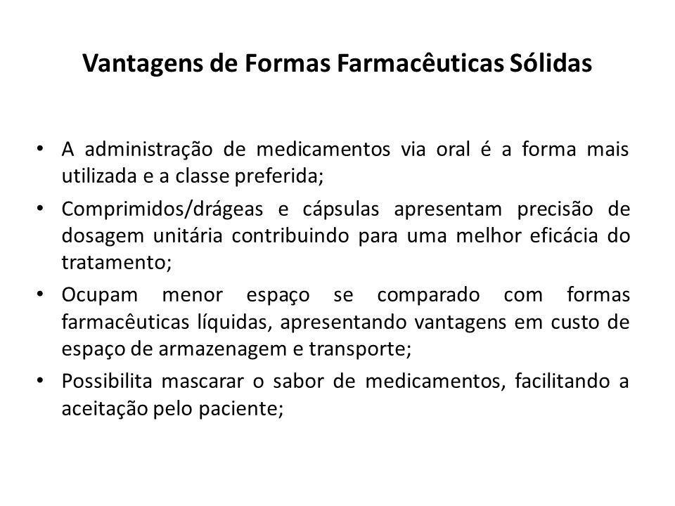 Vantagens de Formas Farmacêuticas Sólidas