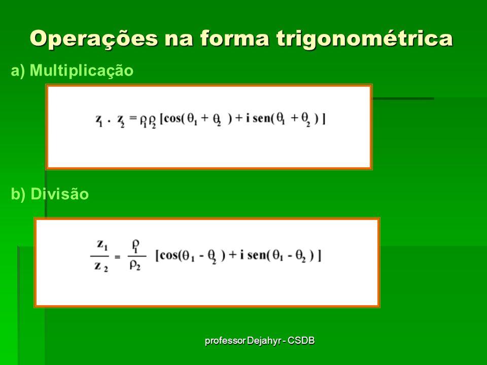 Operações na forma trigonométrica