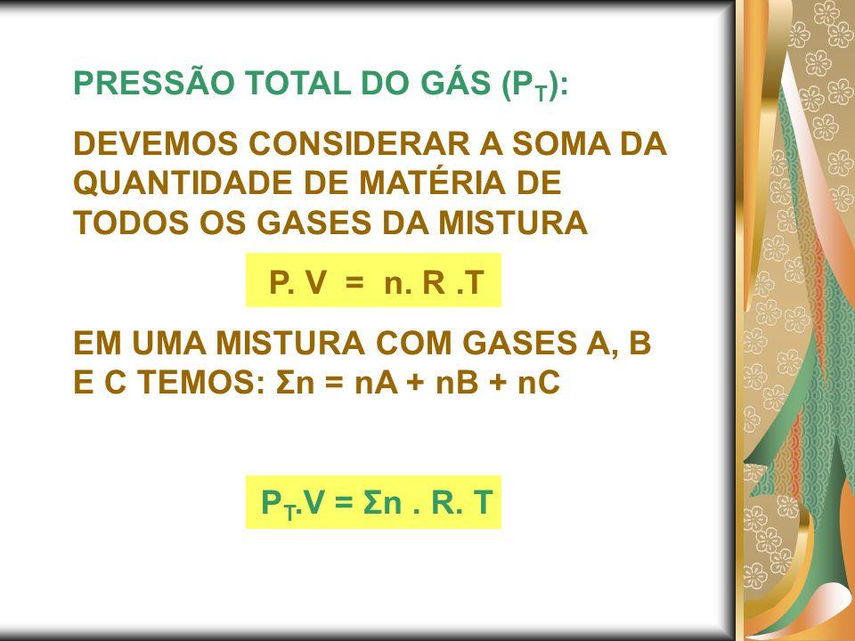 PRESSÃO TOTAL DO GÁS (PT):