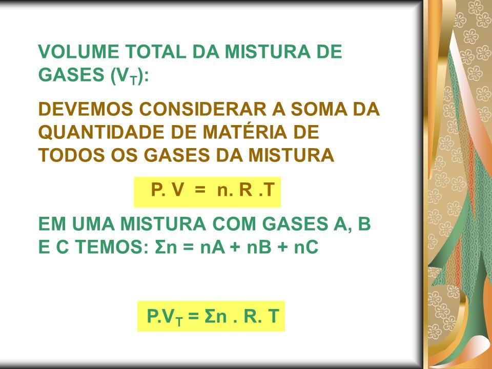 VOLUME TOTAL DA MISTURA DE GASES (VT):
