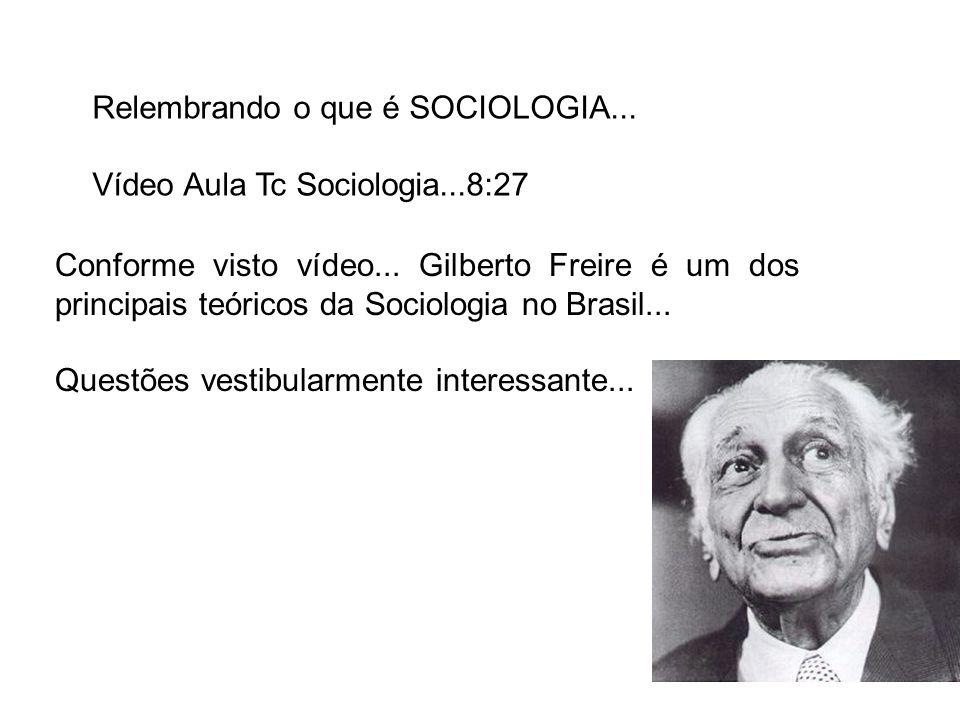 Relembrando o que é SOCIOLOGIA...