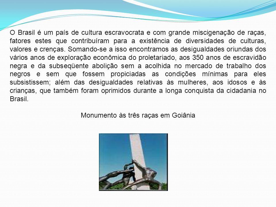 Monumento às três raças em Goiânia