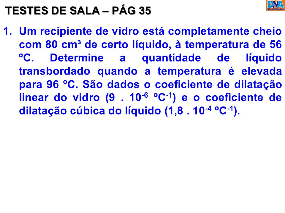 TESTES DE SALA – PÁG 35