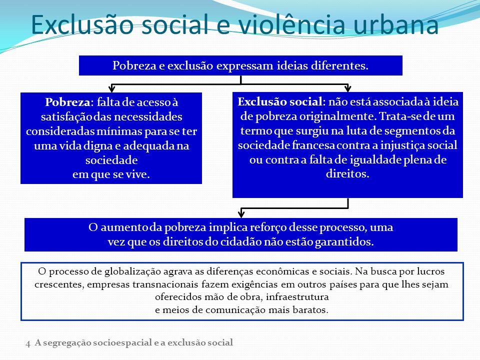 Exclusão social e violência urbana