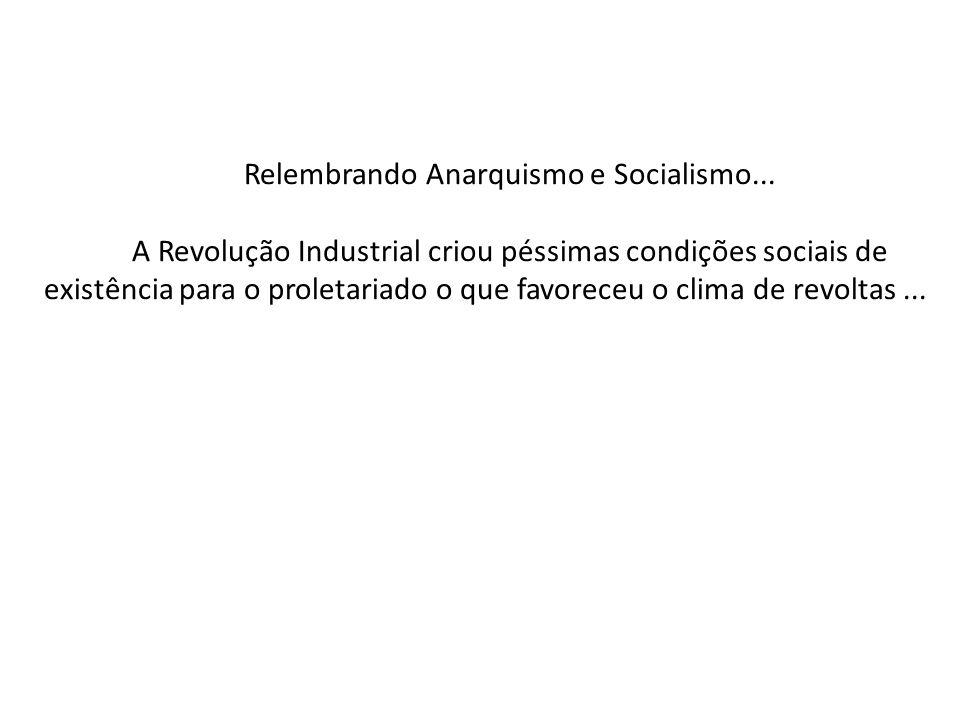 Relembrando Anarquismo e Socialismo...
