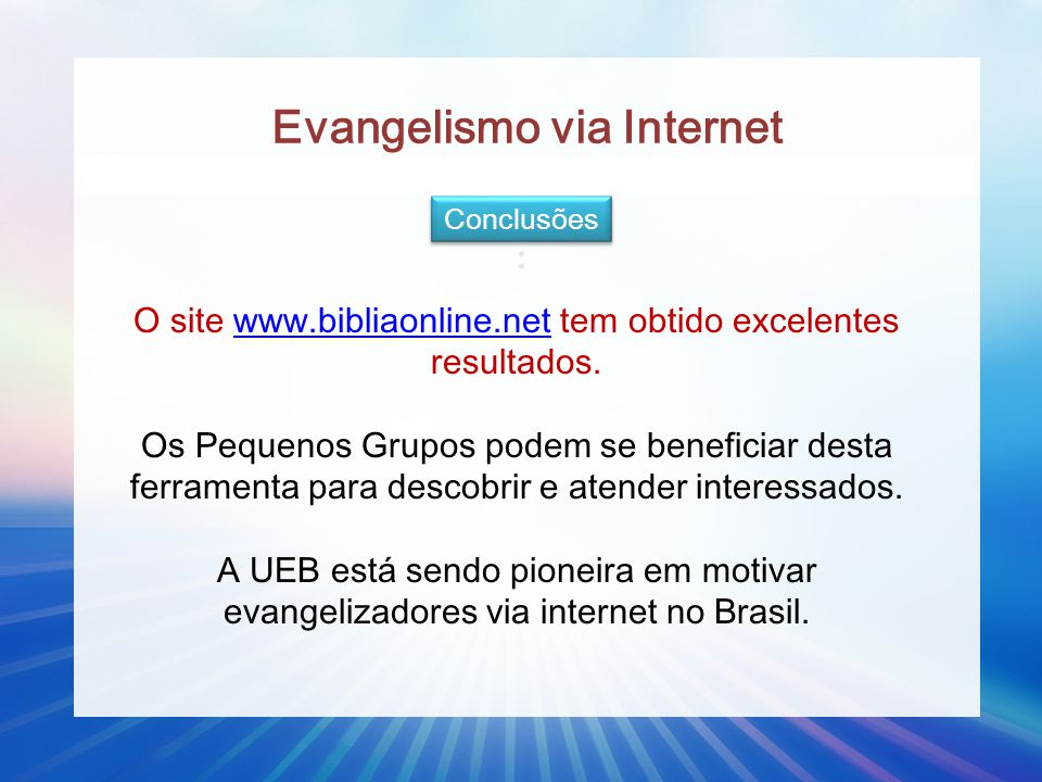 Evangelismo via Internet