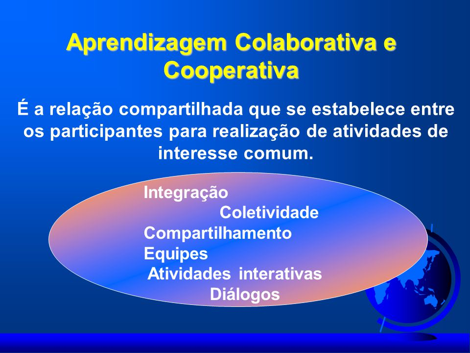 Aprendizagem Colaborativa e Cooperativa