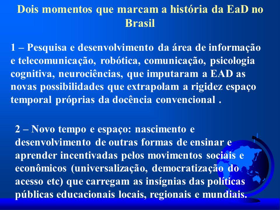 Dois momentos que marcam a história da EaD no Brasil