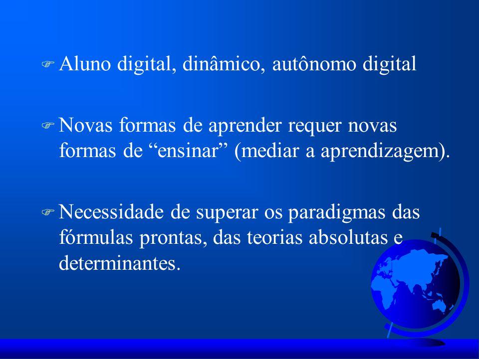Aluno digital, dinâmico, autônomo digital