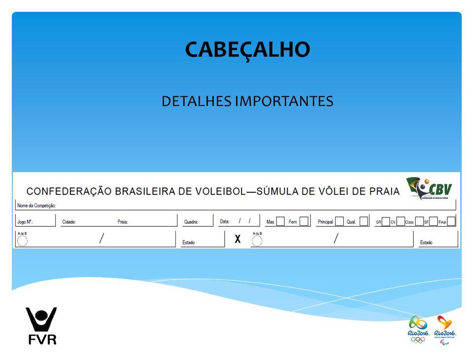 CABEÇALHO DETALHES IMPORTANTES