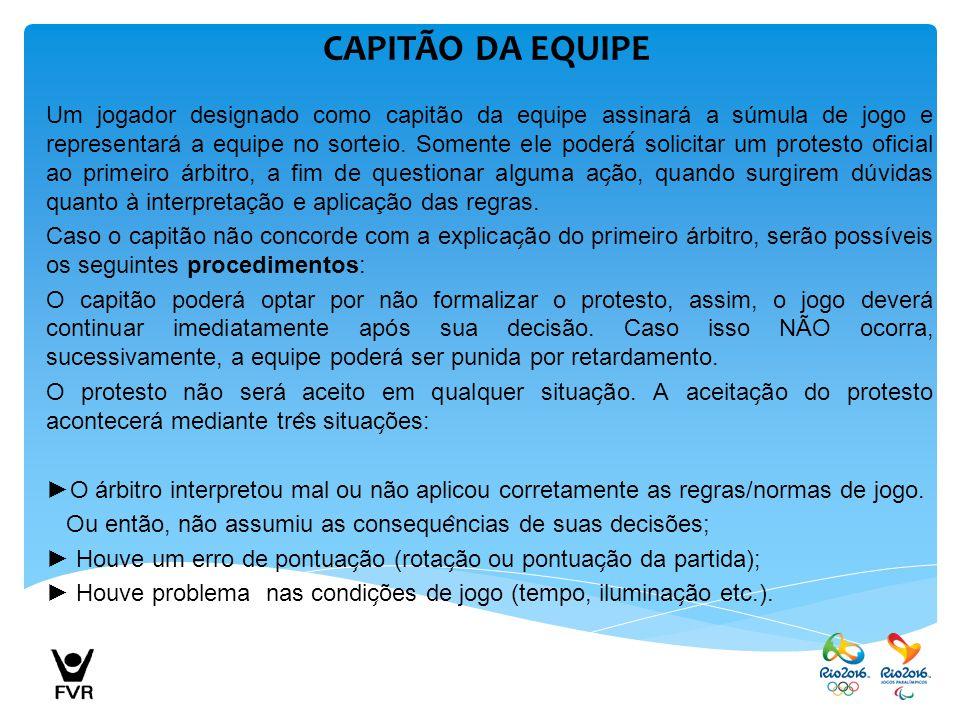CAPITÃO DA EQUIPE