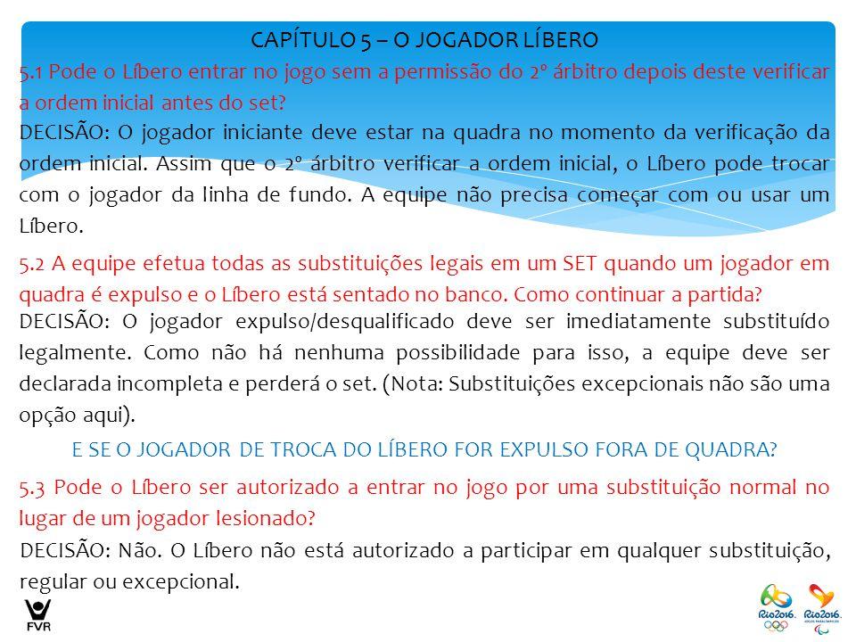 CAPÍTULO 5 – O JOGADOR LÍBERO