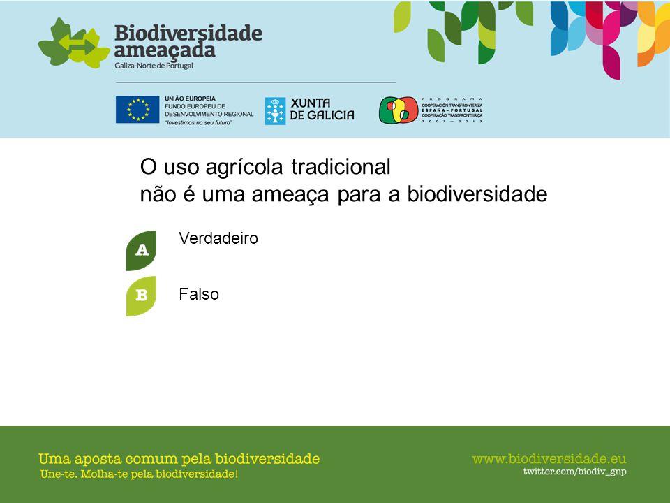 O uso agrícola tradicional não é uma ameaça para a biodiversidade