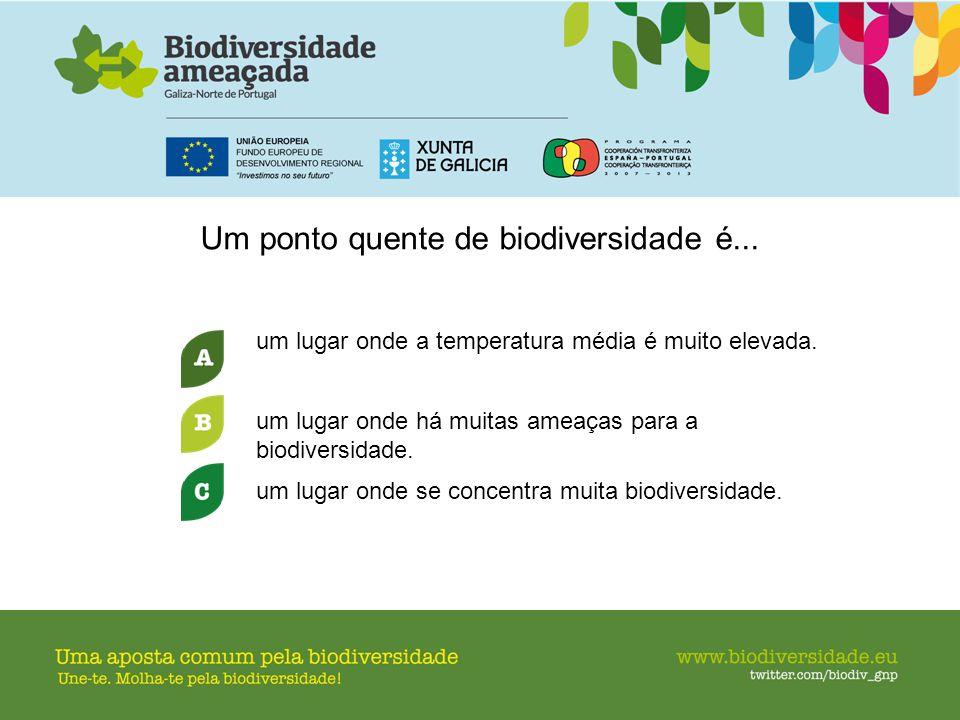 Um ponto quente de biodiversidade é...
