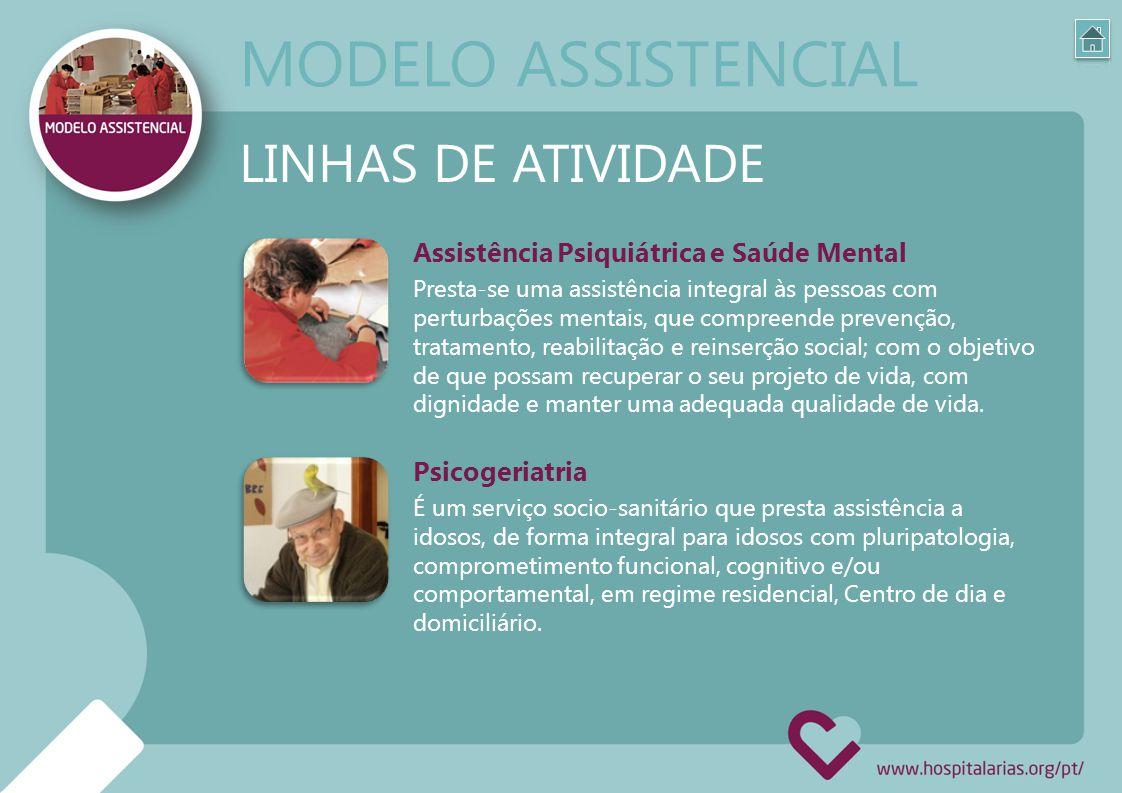 MODELO ASSISTENCIAL LINHAS DE ATIVIDADE