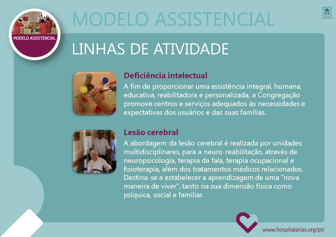 MODELO ASSISTENCIAL LINHAS DE ATIVIDADE Deficiência intelectual