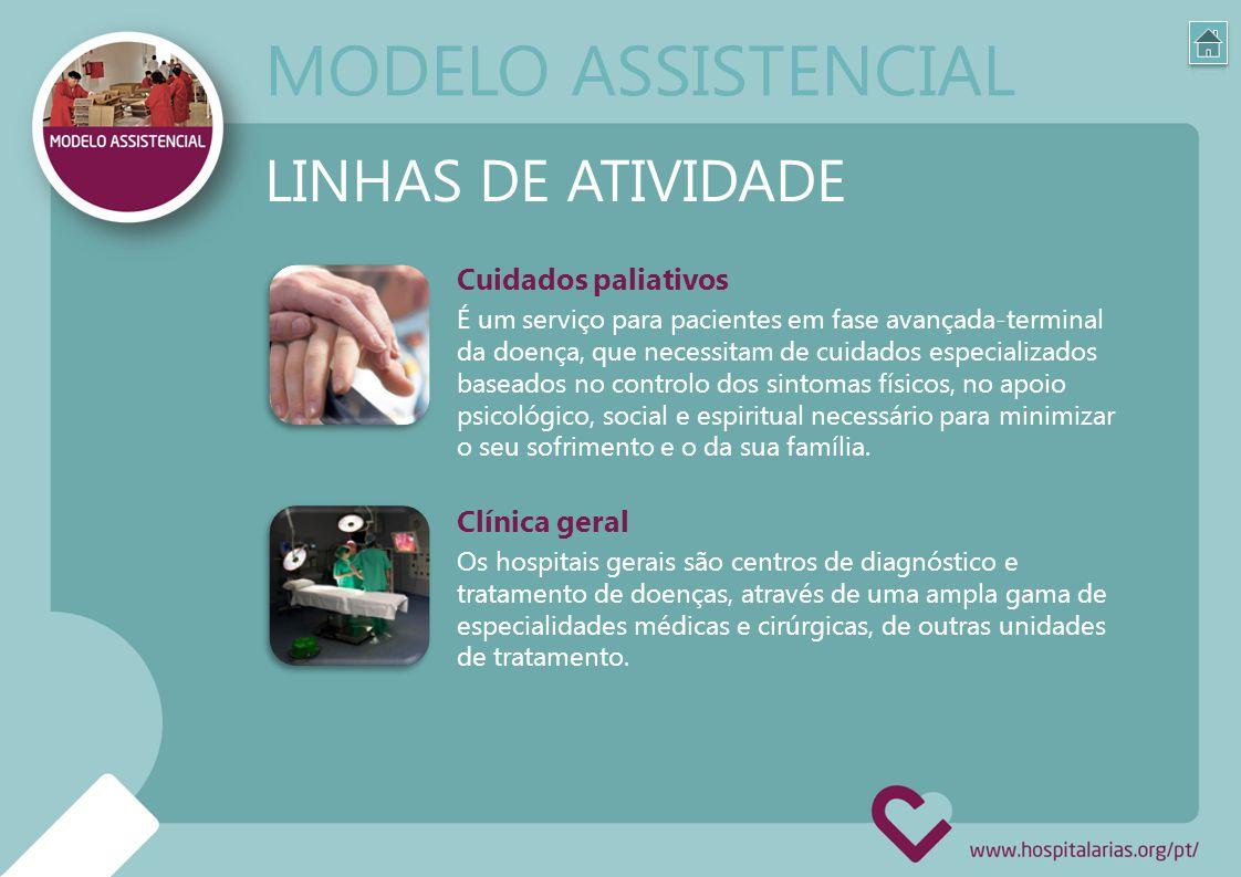 MODELO ASSISTENCIAL LINHAS DE ATIVIDADE Cuidados paliativos