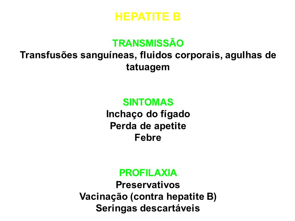 HEPATITE B TRANSMISSÃO