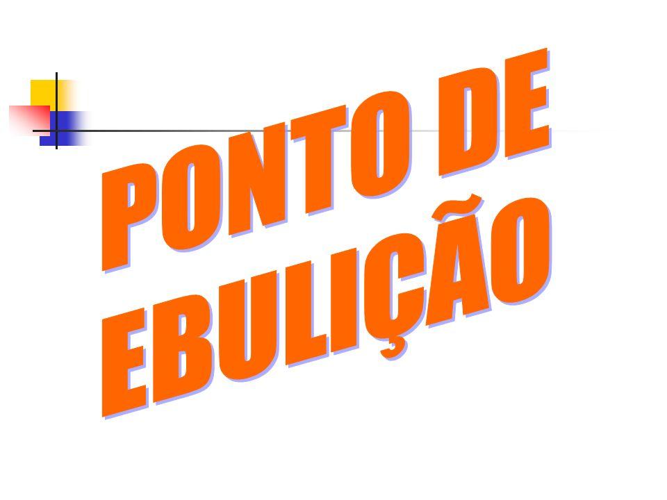 PONTO DE EBULIÇÃO