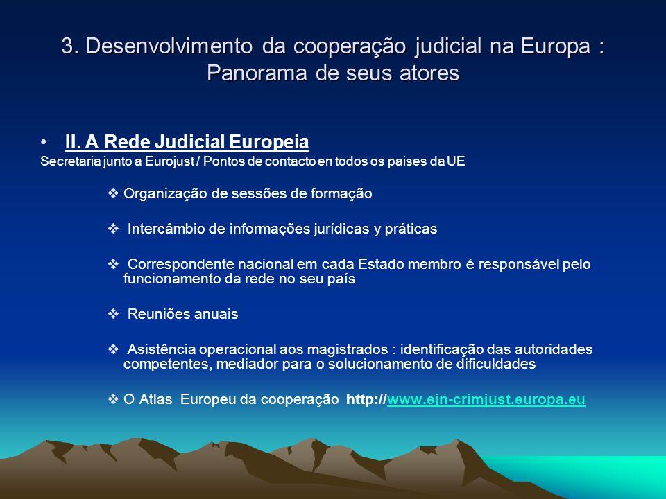 3. Desenvolvimento da cooperação judicial na Europa : Panorama de seus atores