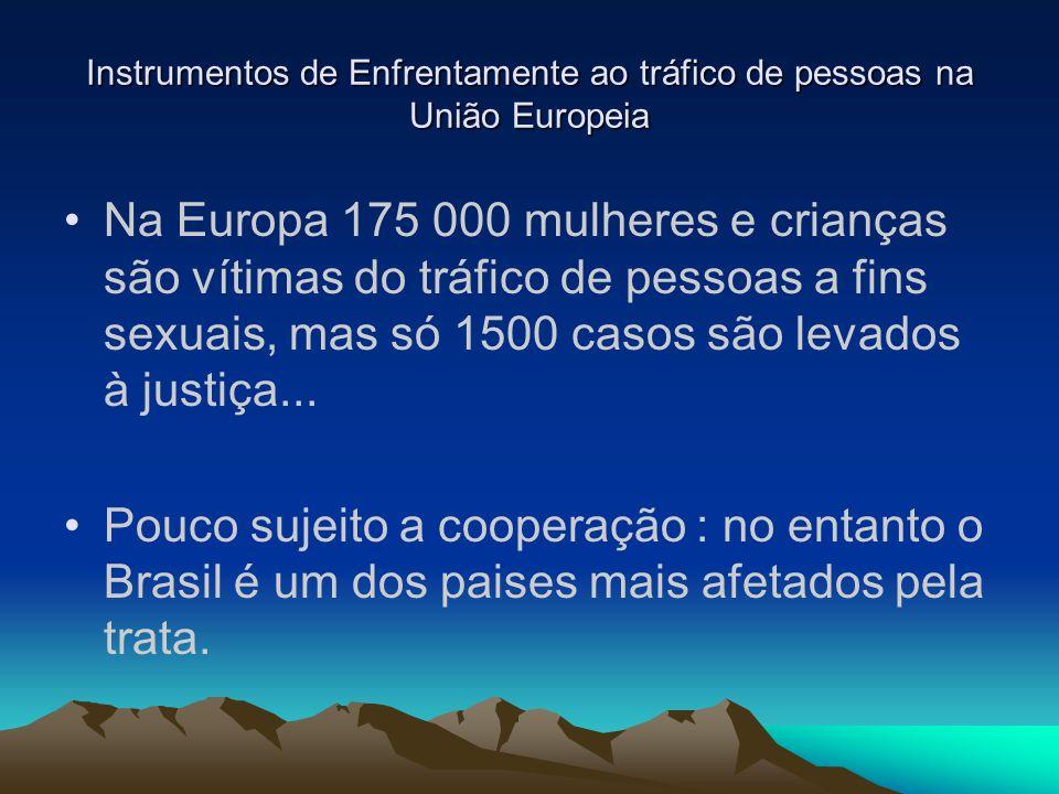 Instrumentos de Enfrentamente ao tráfico de pessoas na União Europeia