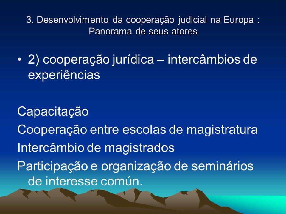 2) cooperação jurídica – intercâmbios de experiências