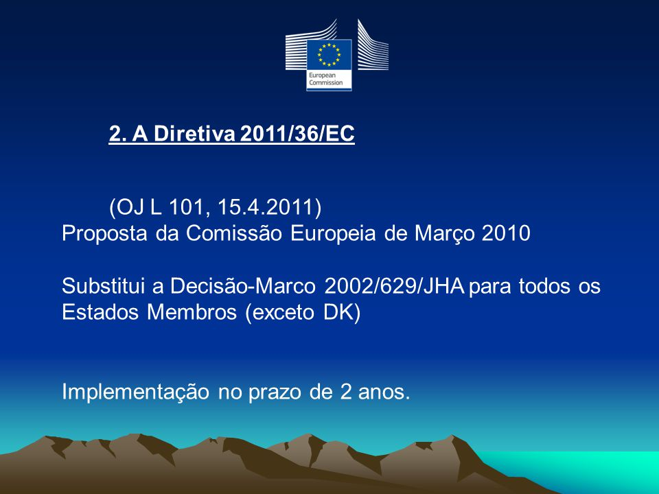 Proposta da Comissão Europeia de Março 2010
