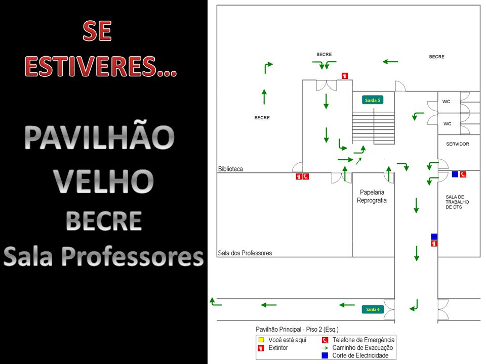 SE ESTIVERES… PAVILHÃO VELHO BECRE Sala Professores