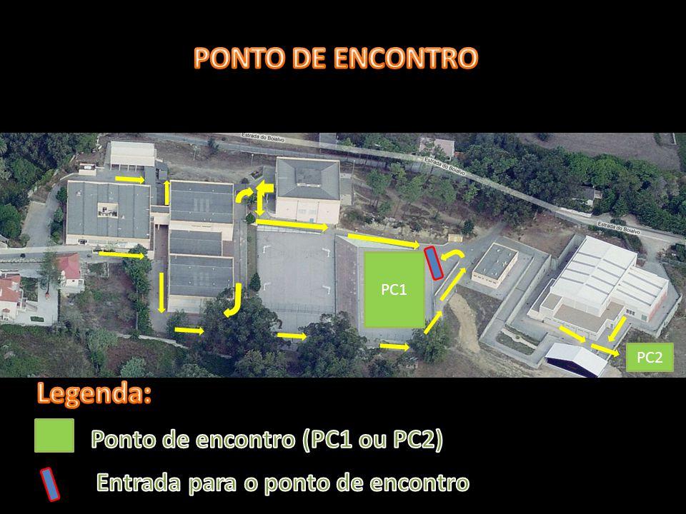 PONTO DE ENCONTRO Legenda: Ponto de encontro (PC1 ou PC2)