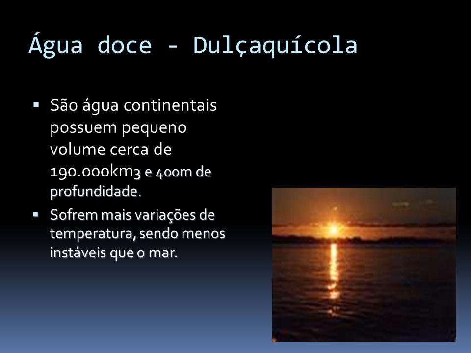 Água doce - Dulçaquícola