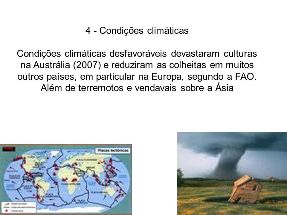 4 - Condições climáticas