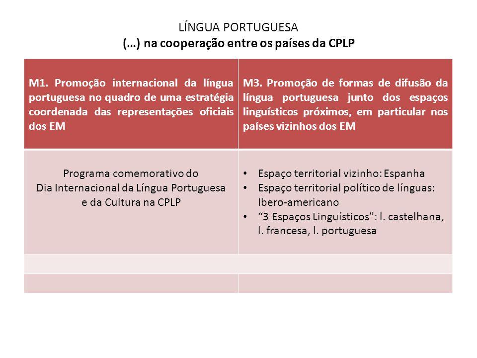 LÍNGUA PORTUGUESA (…) na cooperação entre os países da CPLP