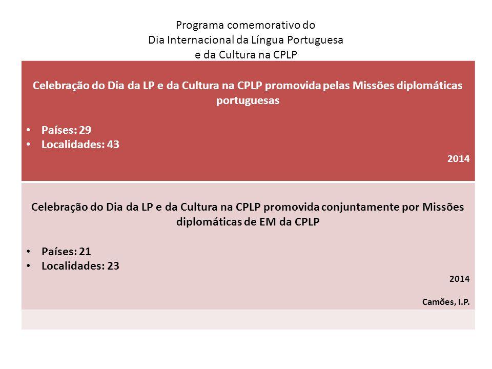 Programa comemorativo do Dia Internacional da Língua Portuguesa e da Cultura na CPLP