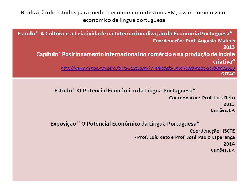 Estudo O Potencial Económico da Língua Portuguesa