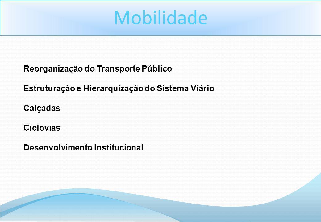 Mobilidade Reorganização do Transporte Público