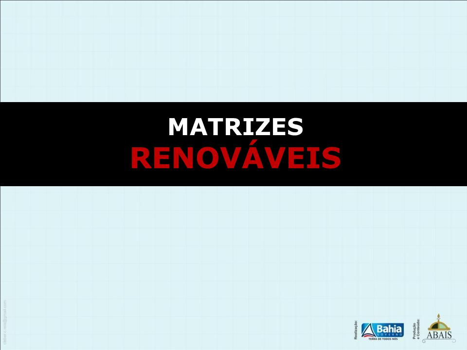 MATRIZES RENOVÁVEIS