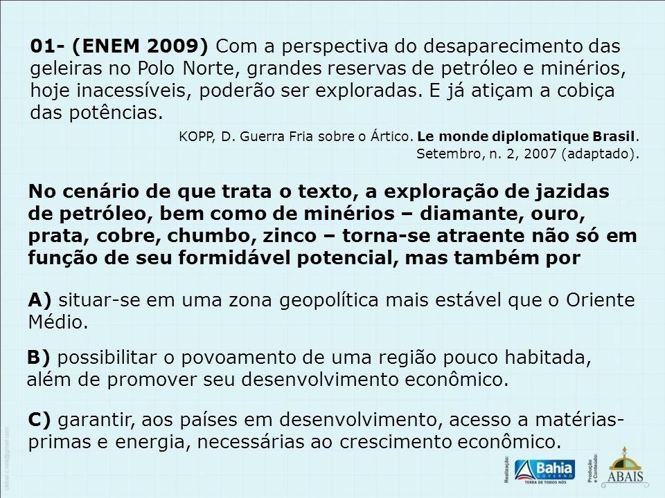 KOPP, D. Guerra Fria sobre o Ártico. Le monde diplomatique Brasil.