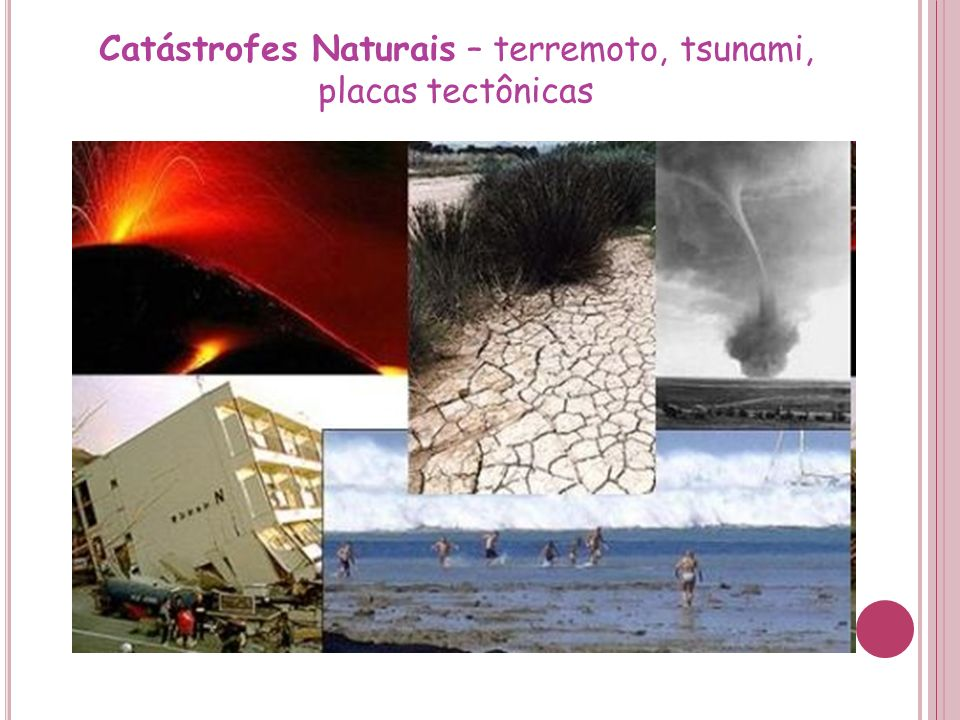 Catástrofes Naturais – terremoto, tsunami, placas tectônicas