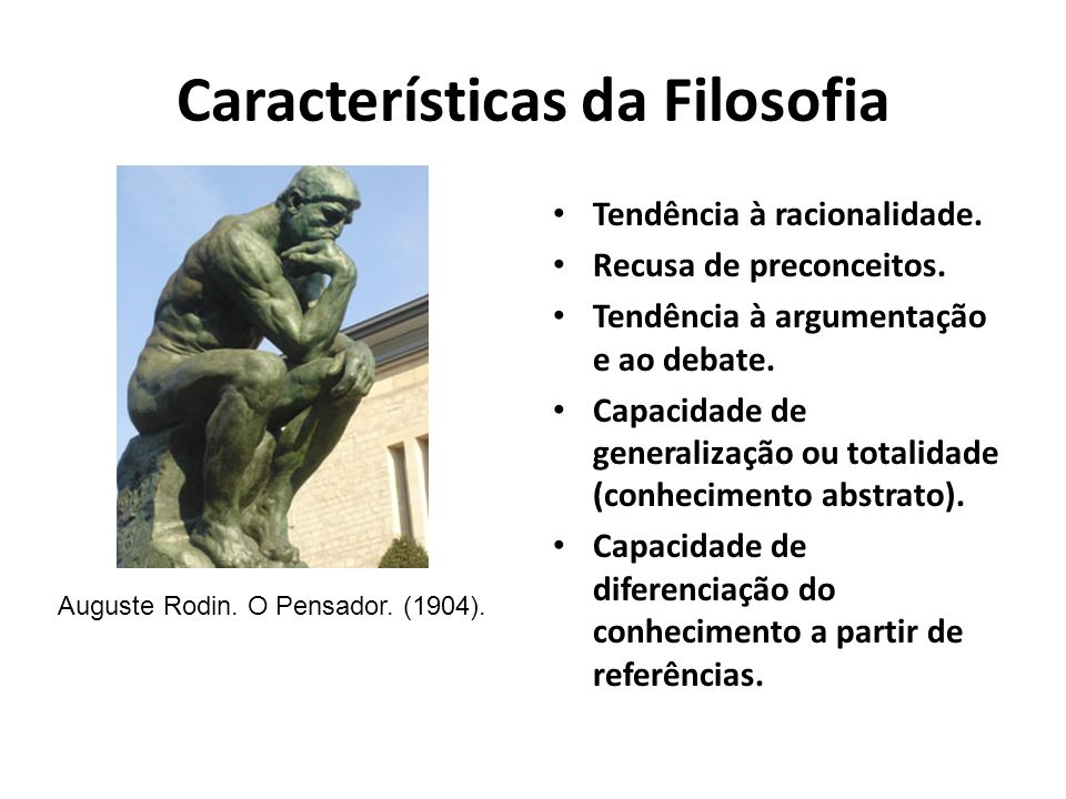 Características da Filosofia