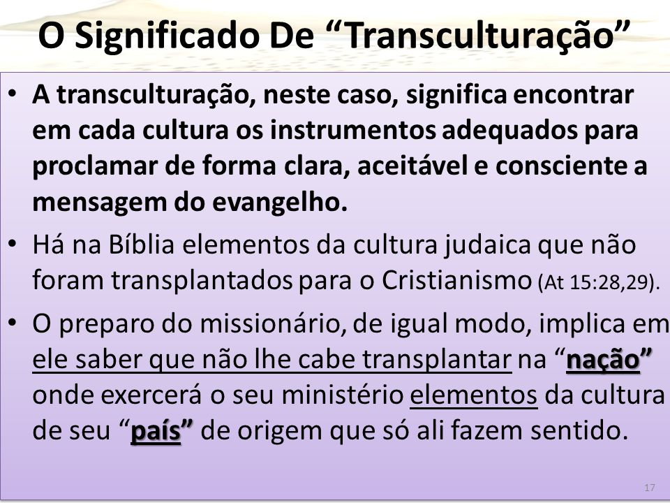 O Significado De Transculturação