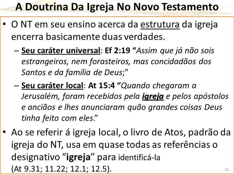 A Doutrina Da Igreja No Novo Testamento