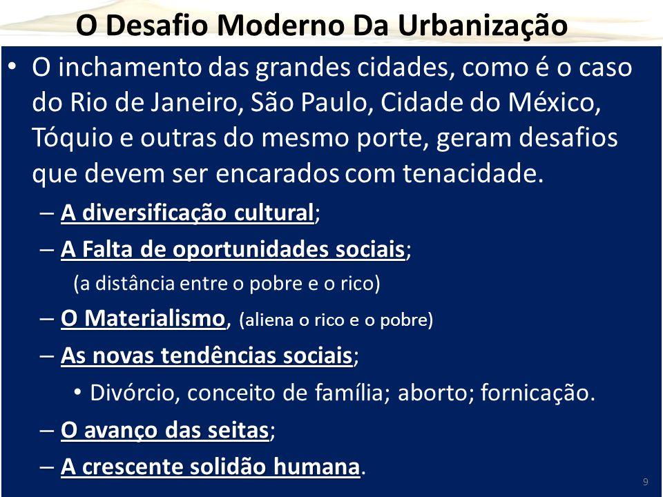 O Desafio Moderno Da Urbanização