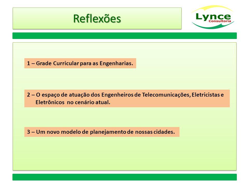 Reflexões 1 – Grade Curricular para as Engenharias.